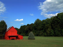 Little red barn Royalty Free Stock Photos