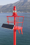 Little Red beacon, solar powered Royalty Free Stock Image