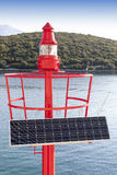 Little Red beacon, solar powered Royalty Free Stock Photography