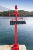 Little Red beacon, solar powered Royalty Free Stock Photos