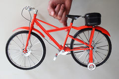 Little Red bicycle Stock Images