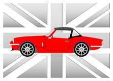 Little red cabrio Royalty Free Stock Image