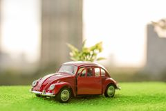 Little red car. royalty free stock images