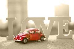 Little red car. stock photos