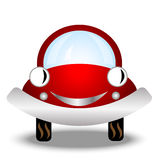 Little red car on white background Stock Photography