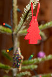 Little Red Christmas Tree Decoration Royalty Free Stock Photography