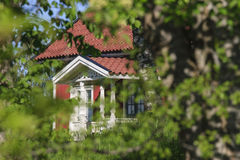 Little red cottage Royalty Free Stock Photography