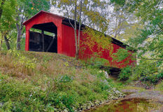 LIttle Red Covered Bridge Royalty Free Stock Image