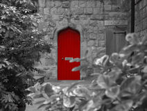 Little Red Door. Into a church royalty free stock images