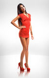 Little red dress. Royalty Free Stock Photos