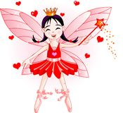 Little red fairy Stock Photos