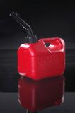 Little Red Gas Can. Gas can shot in studio on black royalty free stock photography