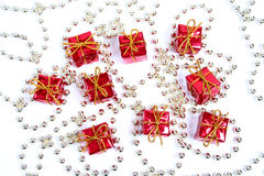 Little red gifts Royalty Free Stock Image