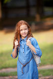 Little red-haired girl Stock Image