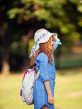 Little red-haired girl Stock Photo