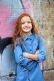Little red-haired girl stock photos