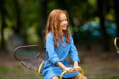 Little red-haired girl Stock Photography