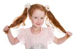 Little red haired girl Stock Image