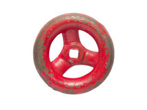 Little red hand wheel Stock Image