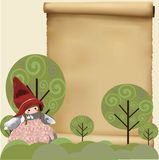 Little red hat background Royalty Free Stock Images