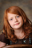 Little red headed girl. Portrait of a little red headed girl Stock Images