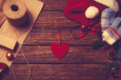 Little red heart shape toy Royalty Free Stock Photo