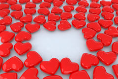 Little red hearts. A lot of little red hearts 3d illustration Royalty Free Stock Photos