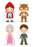Little red hood Stock Images