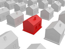 Little red house Royalty Free Stock Photography