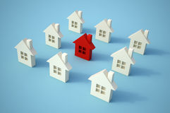 Little red house Royalty Free Stock Image