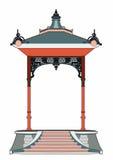 Little red kiosk Stock Image