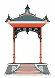 Little red kiosk. Vector illustration of a small bandstand, EPS 8 file Vector Illustration