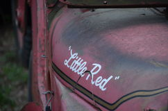 Little Red. Old Rustic Jeep Royalty Free Stock Photos