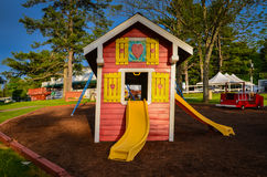 Little Red Playhouse Stock Photos