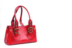 The little red purse. Red purse isolated on white Stock Images