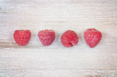 Little red raspberries Royalty Free Stock Photography