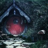 The little red riding door Stock Photos