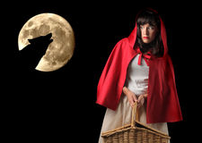Little Red Riding Hood. And the wolf Royalty Free Stock Photos