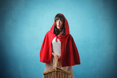 Little Red Riding Hood. Woman disguised in Little Red Riding Hood Royalty Free Stock Image