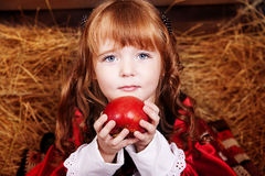 Little Red Riding Hood. With apple Royalty Free Stock Image