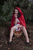 Little Red Riding Hood. Girl dressed as Little Red Riding Hood Royalty Free Stock Images