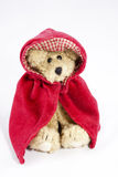 Little Red Riding Hood. Character from fairy tale as depicted by a decorated teddy bear Royalty Free Stock Images