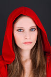 Little Red Riding Hood. A portrait of little red riding hood Royalty Free Stock Photo