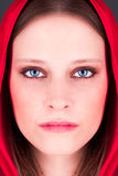 Little Red Riding Hood. A portrait of little red riding hood Royalty Free Stock Images