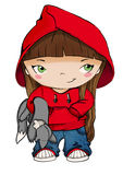Little Red Riding Hood. Digital drawing. Little Red Riding Hood Stock Images