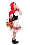 Little Red Riding Hood. Holding an apple basket Stock Photo