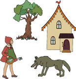 Little Red Riding Hood. Royalty Free Stock Image