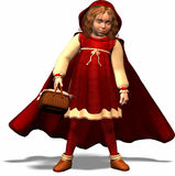 Little Red Riding Hood. The famous femal character from Grimms tales Stock Image