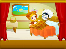 Little red riding hood 7 Stock Images