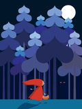 Little Red Riding Hood. Vector illustration Royalty Free Stock Photography